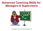 Advanced Coaching Skills slides